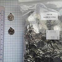 """Метал. подвеска """"инь и ян"""" серебро, 700 шт в уп."""