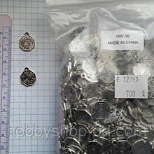 """Метав. підвіска """"інь і ян"""" срібло, 700 шт в уп."""