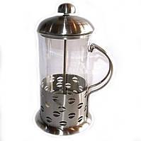 Пресс чайник, заварник Frico FRU-328, объем 800 мл, колба из термостойкого стекла, нержавеющая сталь