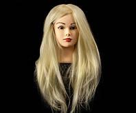 Учебный манекен 100% натуральных волос, длина 75-80 см, Белый