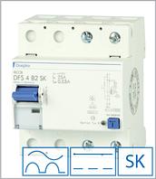 ПЗВ «DFS2 063-4/0,10-B SK» тип B, струм витоку 0,10А, ном.струм 63А