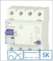 ПЗВ «DFS4 125-4/0,03-B SK» тип B, струм витоку 0,03А, ном.струм 125А