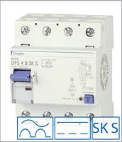 ПЗВ «DFS4 080-4/0,30-B SK S» селективний тип B, струм витоку 0,30А, ном.струм 80А