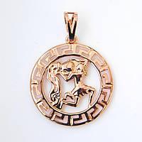 Знак зодиака 53812 Водолей, размер 3.5*2.5 см, позолота РО