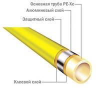ТЕСЕ. Універсальна багатошарова труба PE-Xc/Al/PE d16x2,8мм, бухта 100м