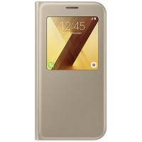 Чехол для сматф. SAMSUNG A720 - S View Standing Cover (Gold)