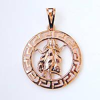 Знак зодиака 53817 Дева, размер 3.5*2.5 см, позолота РО