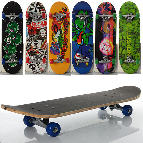 Скейтборд,Скейт детский, алюм. подвеска, колеса ПВХ, 7 слоев в кульке - Модный сундук в Одесской области