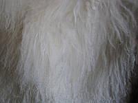Шкурки ламы белого цвета, второй категории.Длина волоса  7-15 мм. Размер единицы - 5*10см