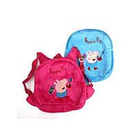 Мягкий велюровый рюкзак свинка.