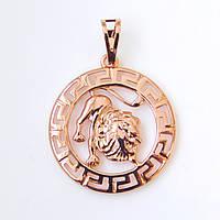 Знак зодиака 53818 Лев, размер 3.5*2.5 см, позолота РО