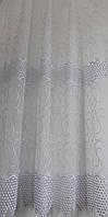 Гардинное полотно (вышивка на органзе №808413) в-285