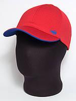 """Стильная красная бейсболка """"Lacoste"""" с подкозырьком цвета электрик (лакоста шестиклинка)"""
