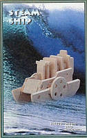 Параход - 3D модель деревянная