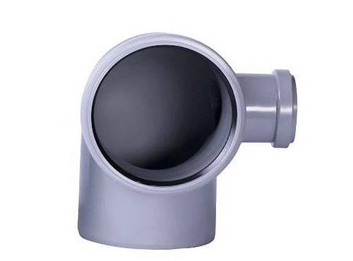 Колено для внутренней канализации, д. 110х50х90 право