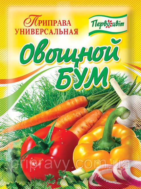 Универсальная приправа Овощной Бум ТМ Первоцвіт, 90г