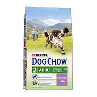 Dog Chow Adult Lamb&Rice 14 кг Сухой корм для взрослых собак с ягненком