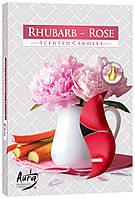 Ароматические свечи таблетки BISPOL Роза - Ревень