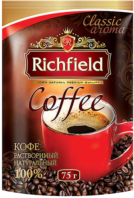 Кофе натуральный растворимый ТМ Richfeild, 75 г