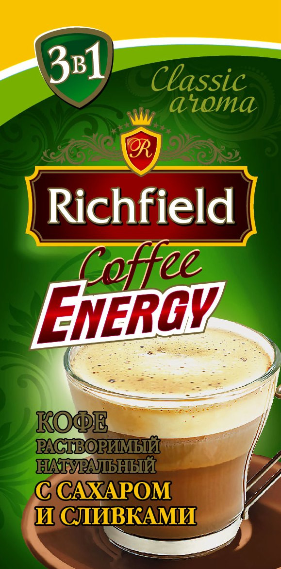 Кофе растворимый 3в1 ТМ Richfeild, 18 г
