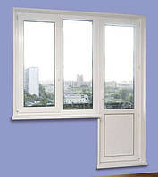 Балконный  блок  (балконная дверь и окно) 4х-камерка