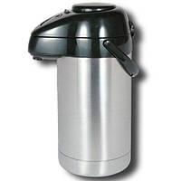 Термос из нержавеющей стали помповый для напитков Stenson 3л