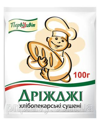 Дрожжи сухие ТМ Первоцвіт, 100 г