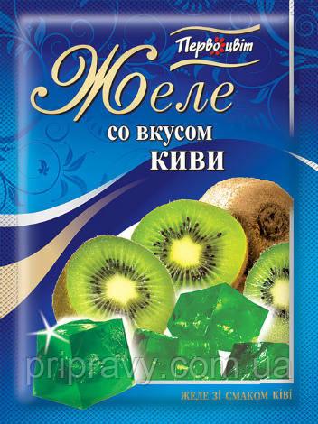 Желе со вкусом Киви ТМ Первоцвіт, 90 г
