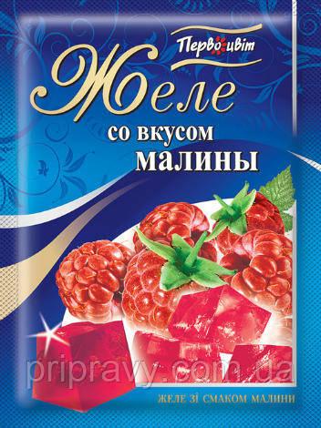 Желе со вкусом Малины ТМ Первоцвіт, 90 г