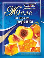 Желе со вкусом Персика ТМ Первоцвіт, 90 г, фото 1
