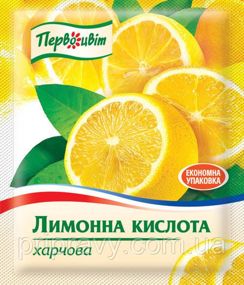 Кислота лимонная пищевая ТМ Первоцвіт, 100 г