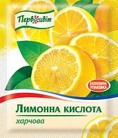 Кислота лимонная пищевая ТМ Первоцвіт, 100 г, фото 1