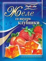 Желе со вкусом Клубники ТМ Первоцвіт, 90 г, фото 1