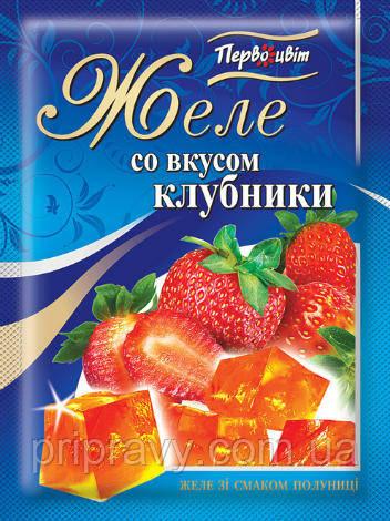Желе со вкусом Клубники ТМ Первоцвіт, 90 г