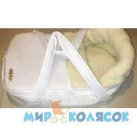Переносная сумка-конверт MARSELLE мех (шерсть 50%) белый (41001)