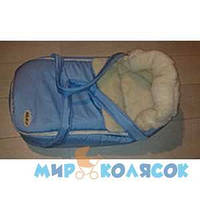 Переносная сумка-конверт MARSELLE мех (шерсть 50%) голубой (41001)