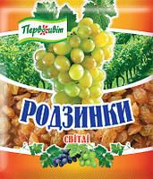 Изюм светлый ТМ Первоцвіт, 140 г, фото 1