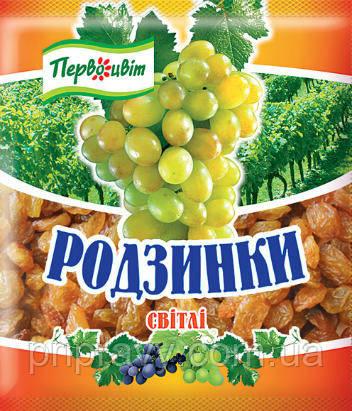Изюм светлый ТМ Первоцвіт, 75 г
