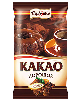 Какао порошок темный ТМ Первоцвіт, 100 г
