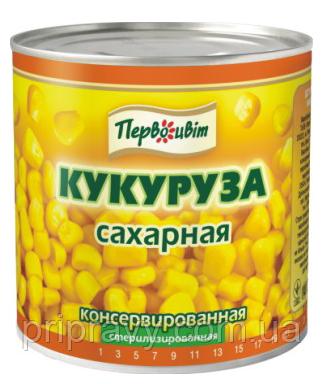 Кукуруза консервированная ж/б 430 г/8 ТМ Первоцвіт