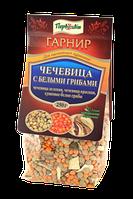 Гарнир Чечевица с белыми грибами ТМ Первоцвіт, 250 г, фото 1