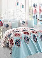 Покрывало пике Eponj Home - Zara A.Turkuaz вафельное 200*235