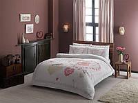 Постельное белье двуспальное евро Alice розовое Ранфорс