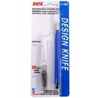 Нож макетный DAFA пластиковая ручка, 20 сменных лезвий C-603