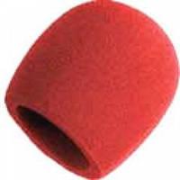 Ветрозащита для микрофона красного цвета
