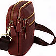 Кожаная мужская сумка 30109, красная, фото 2