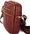 Кожаная мужская сумка 30109, красная, фото 5