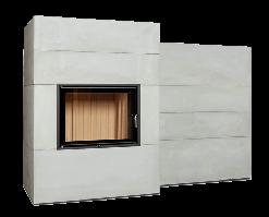 Каминная система Brunner BSG с дополнительной аккумуляцией сбоку