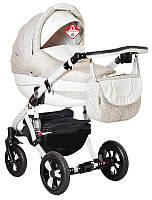 Детская коляска универсальная 2 в 1 Adamex Avila кожа 50% 718S (Адамекс Авила, Польша)