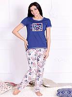 Пижама женская с брюками и футболкой